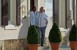 Christophe Dupouy, chef étoilé et son épouse