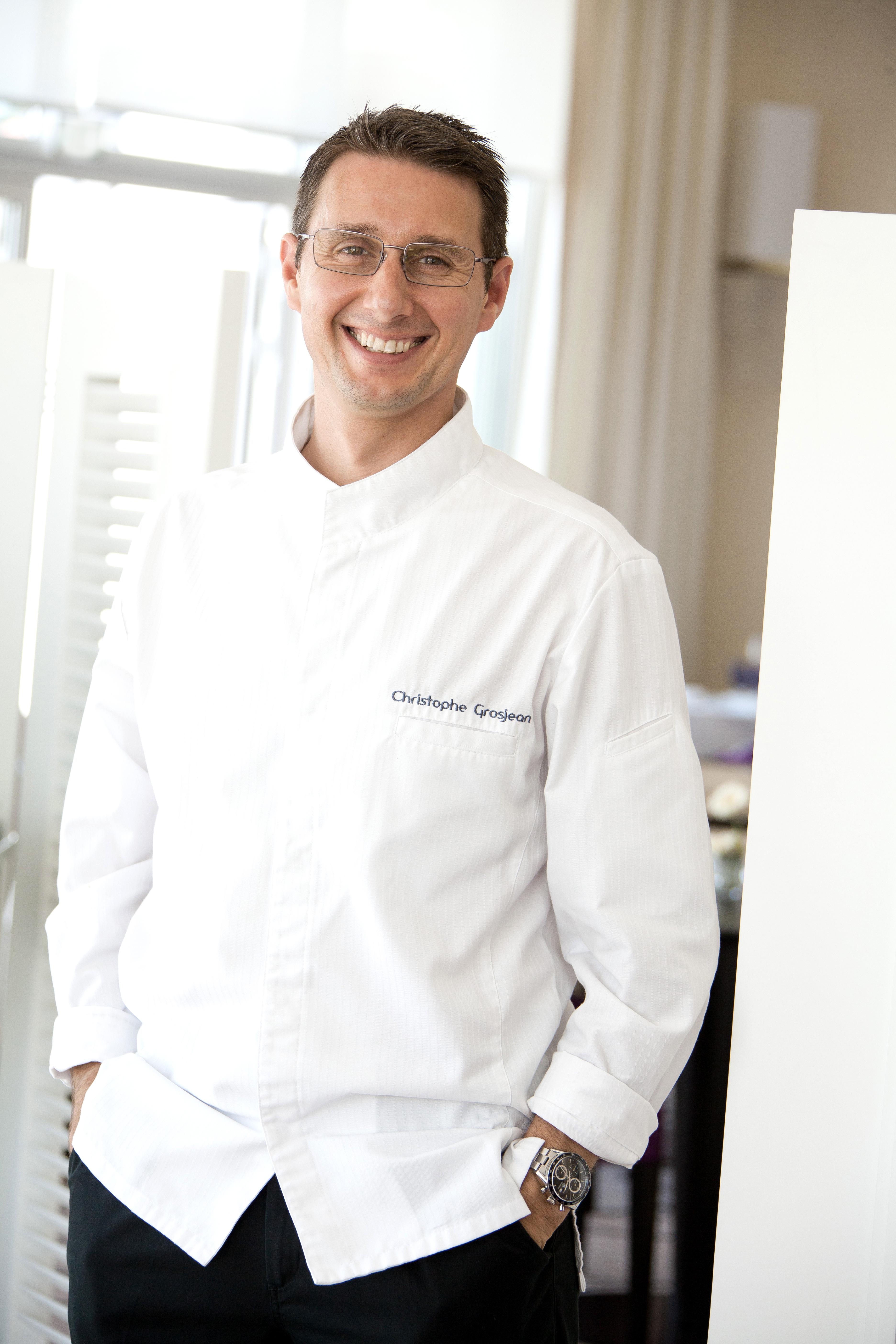 Christophe Grosjean chef étoilé au restaurant l'Océan du Grand Hôtel de Saint-Jean-de-Luz